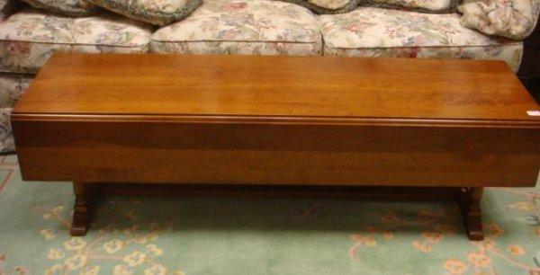 102 Leopold Stickley 2 Drawer Drop Leaf Coffee Table