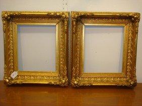 Pair Of Ornate Gilt Deep Antique Frames: