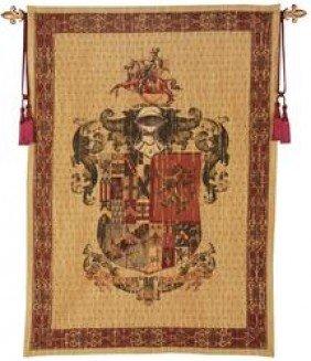 VIRTUTE Et OPERA Heraldic Tapestry: