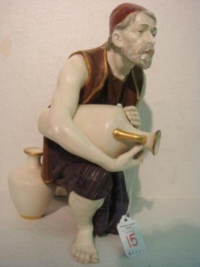 1887 ROYAL WORCESTER Turkish Man Figurine: