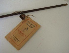 Swagger Stick Co C 110 US Infantry Battle Of Marne: