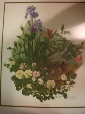 Two Signed MARYROSE WAMPLER Botanical Prints: