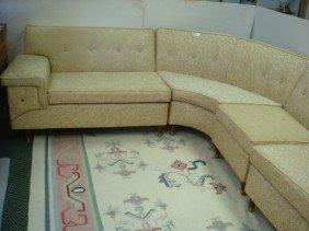 Four Piece Wrap Around Sectional Sofa: