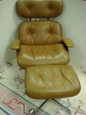 Button Tufted Swivel Chair With Ottoman: