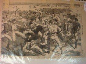 July 1865 HARPERS WEEKLY WINSLOW HOMER Engraving: