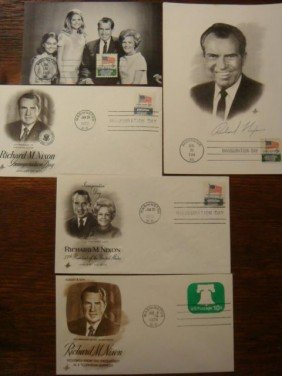 Five First Day Covers, RICHARD M. NIXON: