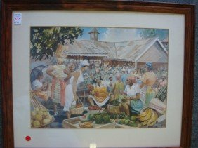 Signed HERBIE ROSE Jamaican Marked Print: