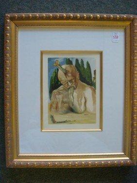 SALVADOR DALI The Divine Comedy Wood Block Print: