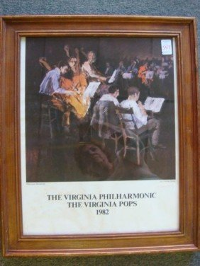 Signed CHARELS SIBLEY Virginia Phil Harmonic Poste