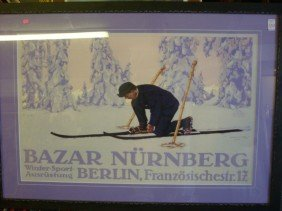 BAZAR NURNBERG Poster Cross Country Skiing:
