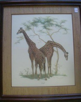 Imaging FRANSWORTH Signed And Numbered Giraffe Pri