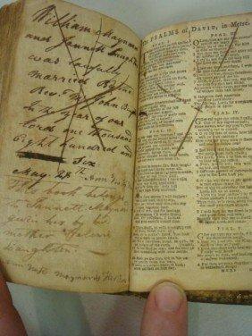 HOLY BIBLE, 1758, JENNETT MAYNARD Her Book: