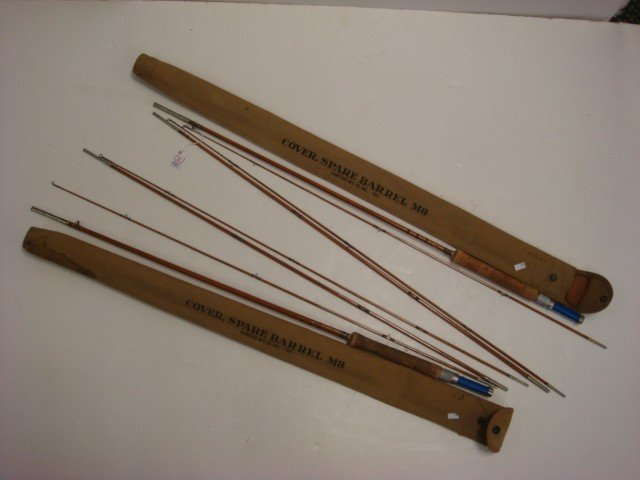 170a pair of montague sunbeam bamboo fly fishing rods for Montague fishing rod
