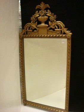 Mirror With Elaborately Carved And Gilt Frame: