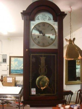 538 Waltham 31 Day Chime Wall Clock Lot 538