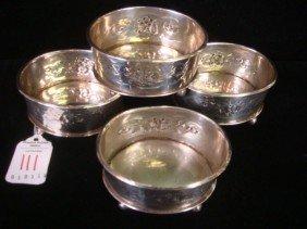 Four Georgian Silver Master Salts: