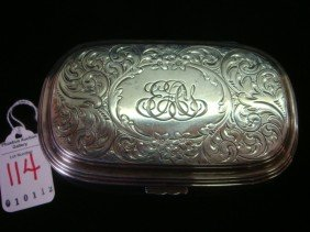 BLACK, STARR & FROST Sterling Silver Box: