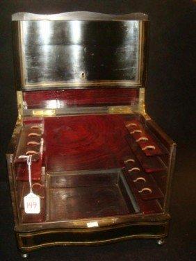 Brass Inlay Ebonized Box: