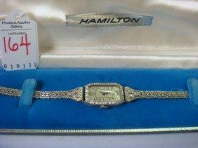 Ladies BULOVA 18KT Gold & Diamond Antique Wrist Wa