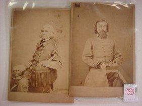 Civil War Photo Cards, Adm. Forrest & George Picke