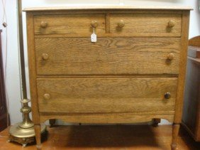 Four Drawer Oak Chest Of Drawers: