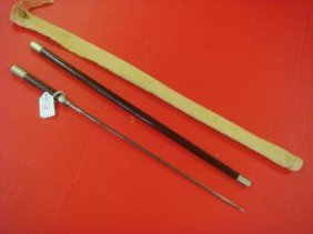 USMC Swagger Stick With Triangular Sword Blade: