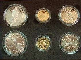 6 Coin Set 1989 CONGRESS With 2 $5 Gold & 4 Silver: