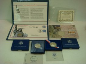 1986 Statue Of Liberty Commemorative Coin & Stamps: