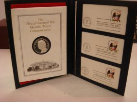 1977 Jimmy Carter Inaugural Silver Metal & 1st Cove