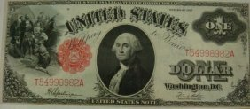US Series 1917 LEGAL TENDER NOTE, $1,  Uncirculated
