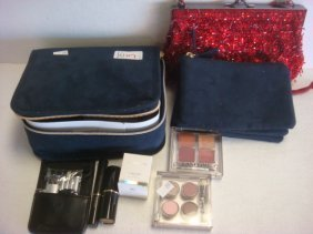 LANCOME Beaded Bag, Estee Lauder Makeup:
