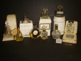 Ten French Small Perfume Bottles, 5 With Boxes:
