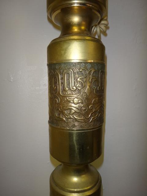 Fancy Brass Pedestal Floor Model Dial Phone Lot 52