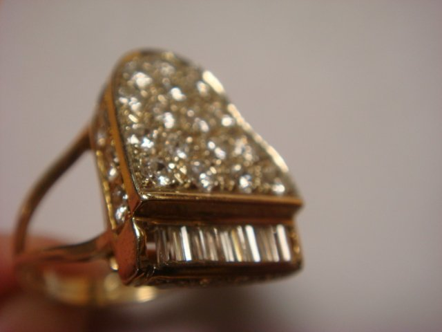 14KT Yellow Gold and Diamond Piano Form Ring: Liberace ...