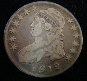 Rare 1812, Us Capped Bust Half Dollar, Ef 40:
