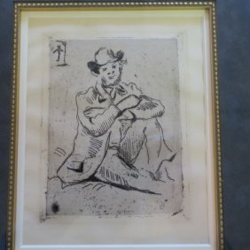 Paul Cezanne Portrait Of A. Guillaumin Etching: