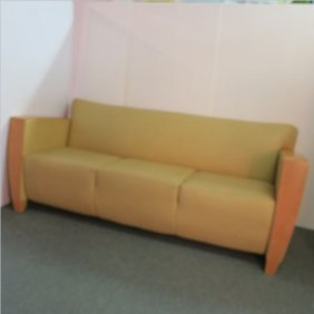 Mid-century Modern Vinyl Upholstered 3 Cushion Sofa: