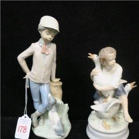 Royal Copenhagen & Nao Lladro Figurines: