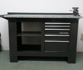 Craftsman Five Drawer Workbench With Vise:
