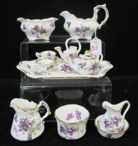 Hammersley Victorian Violets Mini Tea Set And More: