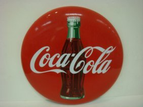 Coca-cola Button Sign 1950's: