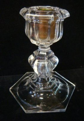 Baccarat Crystal Paneled Candlestick: