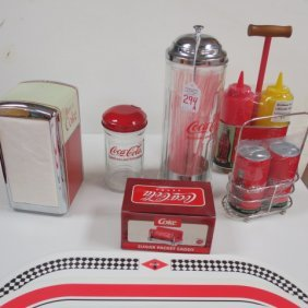 Collection Of Repro Coca-cola Diner Items: