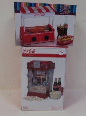 Coca-cola Popcorn Machine And Hot Dog Roller:
