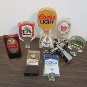 Nine Beer Tap Handles: