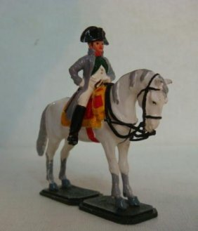 Equestrian Napoleon 54mm Hand Painted Model Soldier: