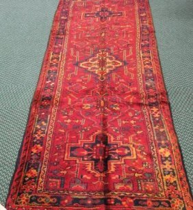 Hand Loomed Wool Iranian Tribal Rug:
