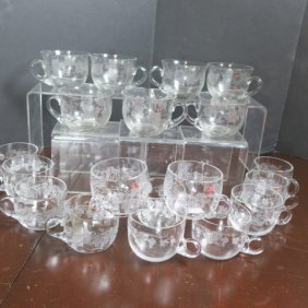 20 Fostoria New Vintage-grape Punch Cups, 2 Styles: