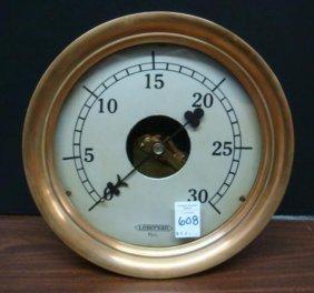 Vintage Je Lonergan Iron And Brass Pressure Gauge: