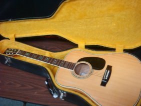 Cortez Acoustic Guitar In Hard Shell Case:
